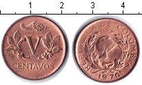 Изображение Мелочь Колумбия 5 сентаво 1970 Медь UNC-