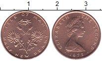 Изображение Мелочь Остров Мэн 1/2 пенни 1971 Медь  Елизавета II. цветы