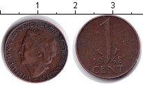 Изображение Монеты Нидерланды 1 цент 1948 Медь XF Вильгельмина