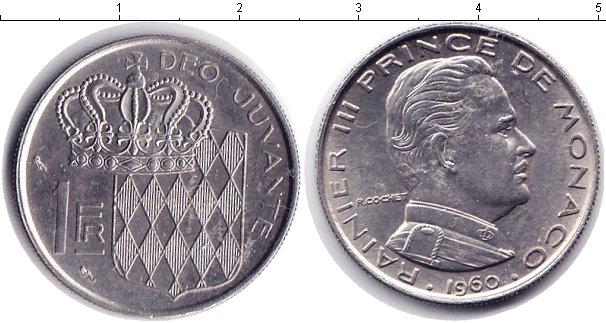 Картинка Мелочь Монако 1 франк Медно-никель 1960