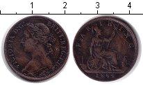 Изображение Монеты Великобритания 1 фартинг 1864 Медь VF Виктория