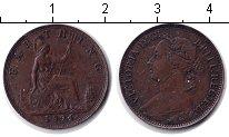 Изображение Монеты Великобритания 1 фартинг 1891 Медь XF Виктория