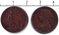 Изображение Монеты Великобритания 1 фартинг 1880 Медь VF Виктория