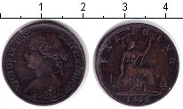 Изображение Монеты Великобритания 1 фартинг 1866 Медь VF Виктория