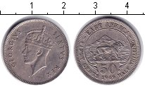 Изображение Монеты Восточная Африка 50 центов 1949 Медно-никель XF Георг VI