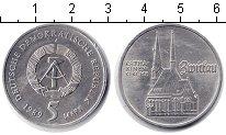 Изображение Монеты ГДР 5 марок 1989 Медно-никель UNC- Церковь Катерины