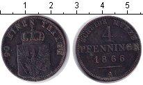 Изображение Монеты Пруссия 1 пфенниг 1866 Медь XF А