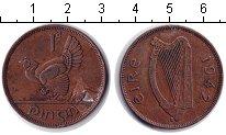 Изображение Монеты Ирландия 1 пенни 1942 Медь XF курица