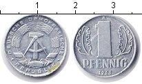 Изображение Монеты ГДР 1 пфенниг 1968 Алюминий VF