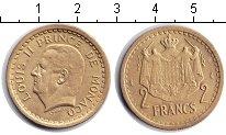 Изображение Монеты Монако 2 франка 1945  XF