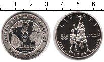 Изображение Мелочь США 1/2 доллара 1995 Медно-никель Proof Олимпиада-1996 в Атл