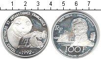 Изображение Монеты Франция 100 франков 1992 Серебро Proof- Французские территор