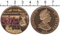 Изображение Мелочь Остров Святой Елены 25 пенсов 2013 Позолота Proof Елизавета II. Войны