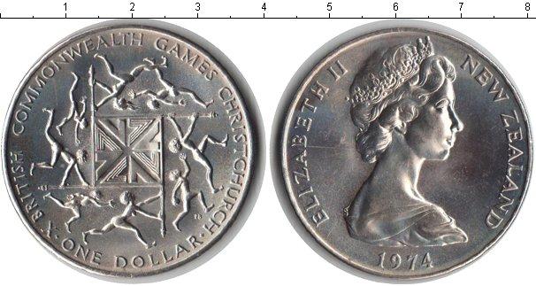 Картинка Мелочь Новая Зеландия 1 доллар Медно-никель 1974
