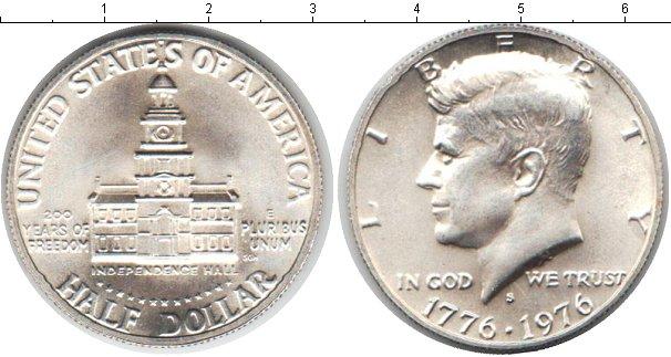 Картинка Мелочь США 1/2 доллара Серебро 1976