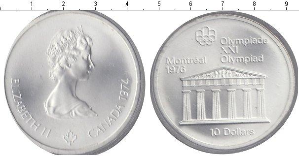 Картинка Монеты Канада 10 долларов Серебро 1974