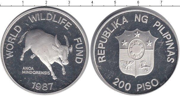 Картинка Монеты Филиппины 200 песо Серебро 1987