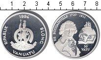 Изображение Монеты Вануату 50 вату 1994 Серебро Proof- Де Боугаинвилле