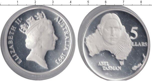 Картинка Монеты Австралия 5 долларов Серебро 1993