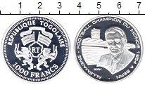 Изображение Монеты Того 1000 франков 2001 Серебро Proof-