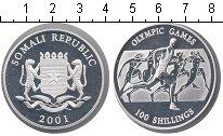 Изображение Монеты Сомали 100 шиллингов 2001 Серебро Proof-