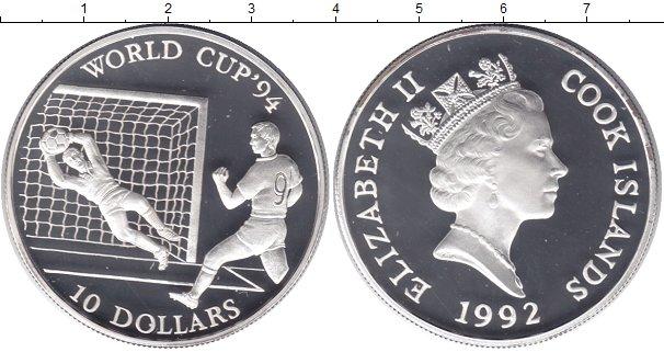 Картинка Монеты Острова Кука 10 долларов Серебро 1992