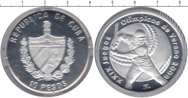 Картинка Монеты Куба 10 песо Серебро 2008