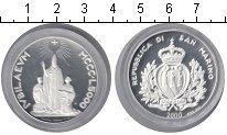 Изображение Монеты Сан-Марино 5000 лир 2000 Серебро Proof-