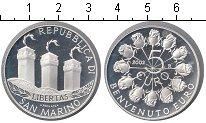 Изображение Монеты Сан-Марино 5 евро 2002 Серебро Proof- Введение евро