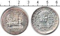 Изображение Монеты Италия 500 лир 1989 Серебро UNC- Колумб