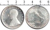 Изображение Монеты Италия 500 лир 1974 Серебро Proof-