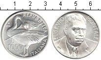 Изображение Монеты Италия 1000 лир 1996 Серебро UNC- Евгенио Монтале