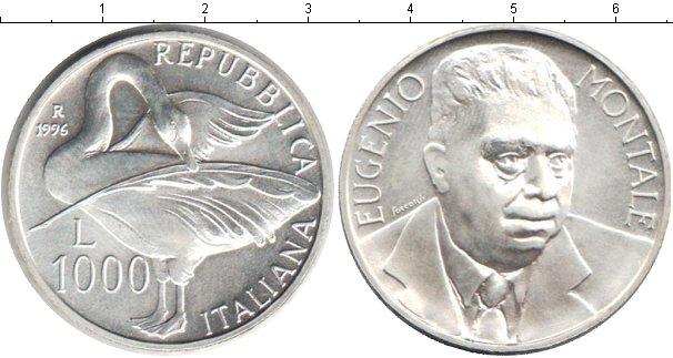 Картинка Монеты Италия 1.000 лир Серебро 1996