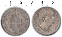 Изображение Монеты Италия 2 лиры 1887 Серебро VF