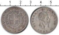 Изображение Монеты Италия 2 лиры 1863 Серебро VF Витторио Имануил II