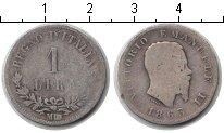 Изображение Монеты Италия 1 лира 1863 Серебро VF Витторио Имануил II