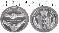 Изображение Монеты Ниуэ 10 долларов 1994 Серебро Proof- FIFA 1994 США