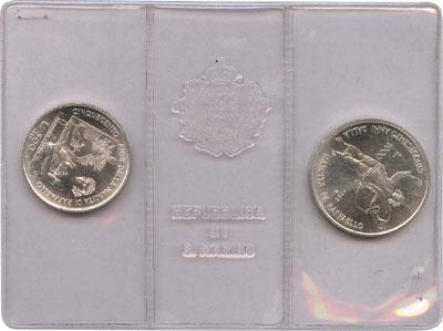 Изображение Наборы монет Сан-Марино Рафаэль Санти 1983 Серебро UNC Набор посвящен италь