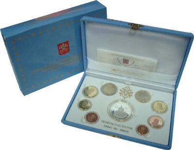 Изображение Подарочные монеты Ватикан Бенедикт XVI 2012   Подарочный набор пос