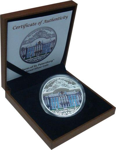 Изображение Подарочные монеты Малави Екатерининский Дворец, Санкт-Петербург 2010 Серебро Proof `Подарочная монета п