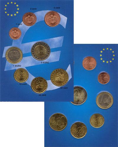 Изображение Подарочные монеты Монако Евронабор 2001 г, 2001  UNC Подарочный евронабор
