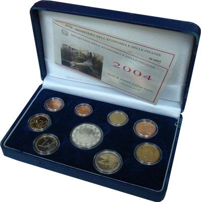 Изображение Подарочные монеты Италия 50-лет итальянскому телевидению 2004