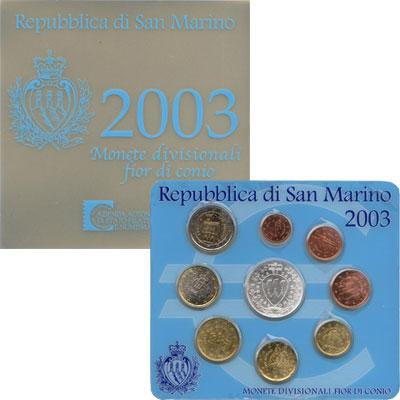 Изображение Подарочные монеты Сан-Марино Выпуск монет 2003 2003   Евро был введён в Са