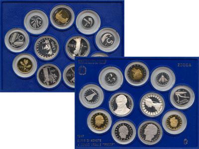 Изображение Подарочные наборы Италия Выпуск монет 1987 года 1987