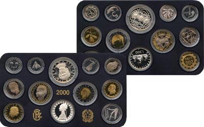Изображение Подарочные наборы Италия Выпуск монет 2000 года 2000