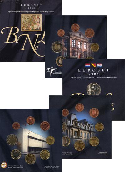 Изображение Подарочные монеты Бельгия БеНиЛюкс Евросет 2003 2003  UNC