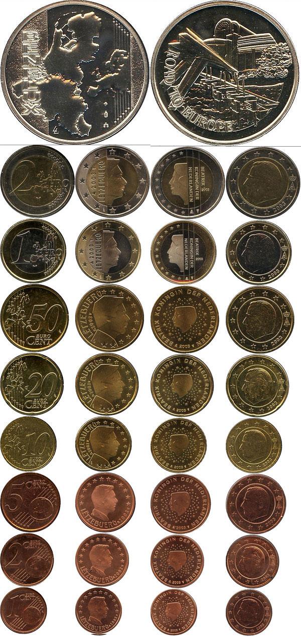 Картинка Подарочные наборы Люксембург Евросет 2003  2003