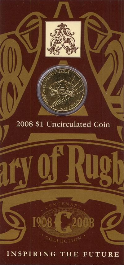 Изображение Подарочные монеты Австралия 100- летие Лиги регби 2008