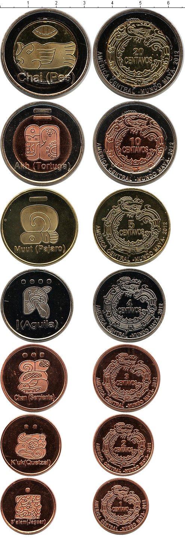 Картинка Наборы монет Центральная Америка Центральная Америка - Мундо Майя 2012  2012