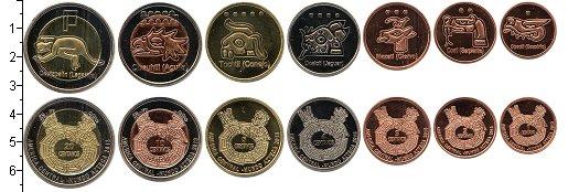 Изображение Наборы монет Центральная Америка Центральная Америка, Ацтеки 2013 2013  UNC- В наборе 7 монет ном